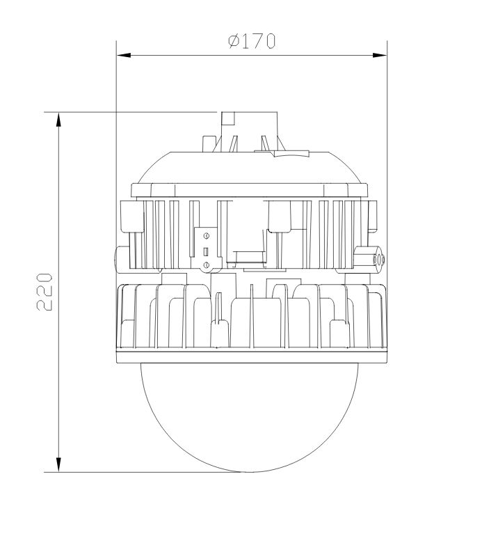 bpc8767LED防爆平台灯外形尺寸