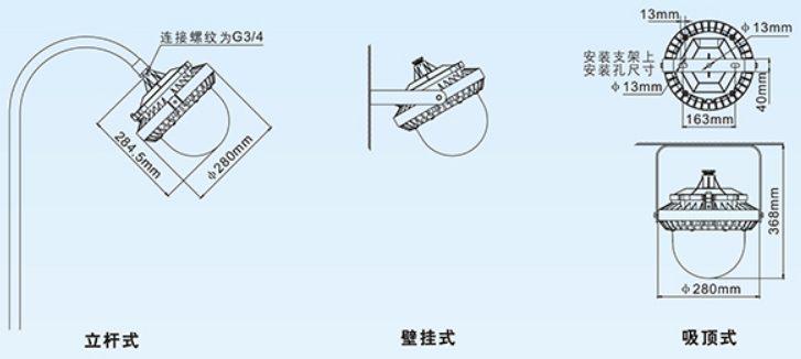 BFC8183固态免维护防爆灯外形尺寸